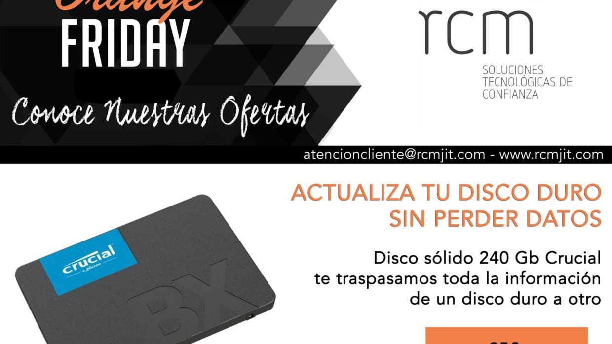¡Ha llegado el ORANGE FRIDAY en RCM!
